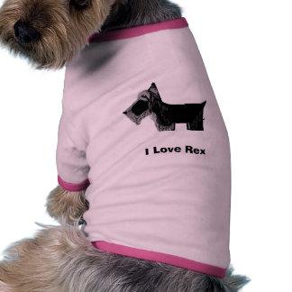 ¡Amo a Rex, camiseta del perro de Scotty, me modif Camisas De Mascota