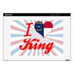 Amo a rey, Carolina del Norte Skins Para 38,1cm Portátil