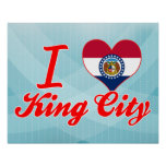 Amo a rey City, Missouri Impresiones