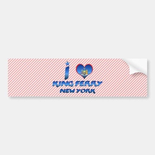 Amo a rey Ferry, Nueva York Pegatina Para Auto
