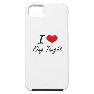 Amo a rey Taught iPhone 5 Carcasas