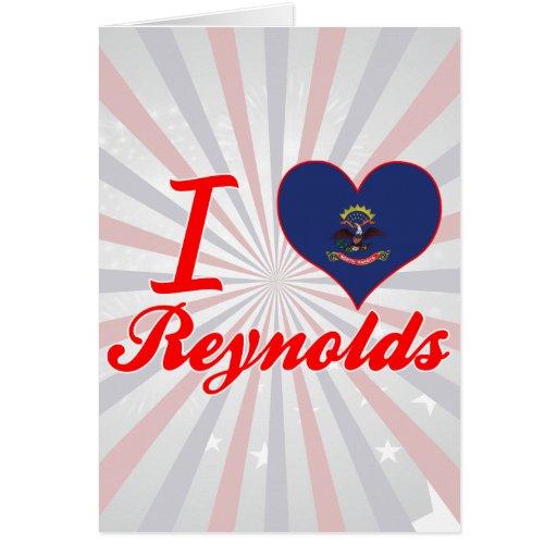 Amo a Reynolds, Dakota del Norte Tarjeton