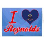 Amo a Reynolds, Dakota del Norte Tarjetón