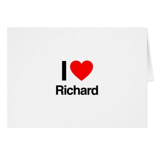 amo a Richard Tarjeta