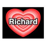 Amo a Richard. Te amo Richard. Corazón Postales