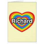 Amo a Richard. Te amo Richard. Corazón Tarjeta De Felicitación