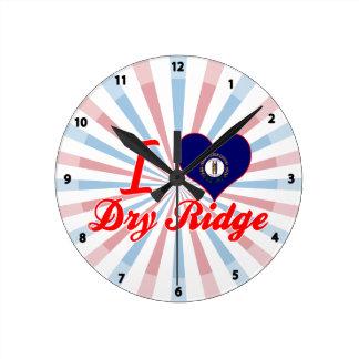 Amo a Ridge seco, Kentucky Reloj De Pared