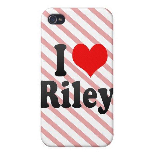 Amo a Riley iPhone 4/4S Carcasas