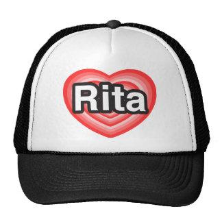 Amo a Rita. Te amo Rita. Corazón Gorro