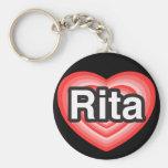 Amo a Rita. Te amo Rita. Corazón Llaveros Personalizados