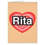 Amo a Rita. Te amo Rita. Corazón Tarjeta