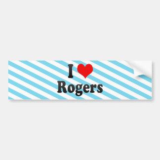 Amo a Rogers, Estados Unidos Pegatina De Parachoque