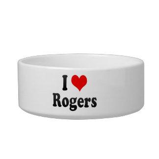 Amo a Rogers, Estados Unidos Tazón Para Agua Para Gatos