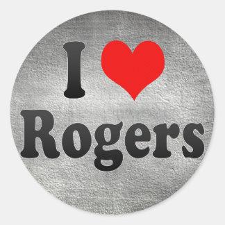Amo a Rogers, Estados Unidos Pegatina Redonda
