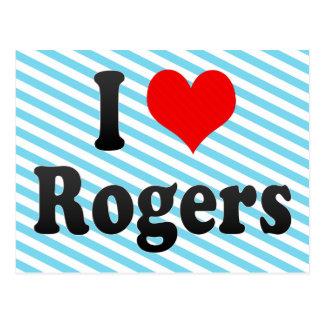 Amo a Rogers, Estados Unidos Tarjeta Postal