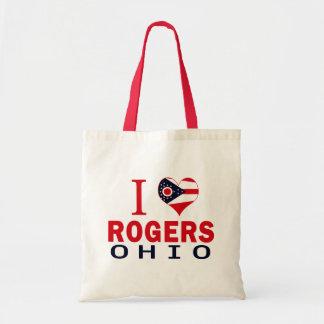 Amo a Rogers, Ohio Bolsa De Mano