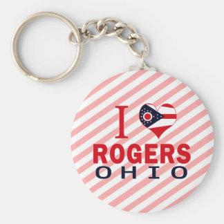 Amo a Rogers, Ohio Llavero