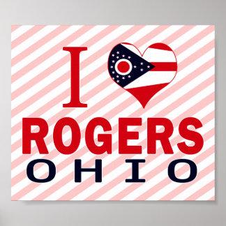 Amo a Rogers, Ohio Impresiones