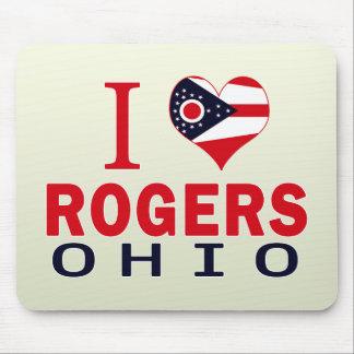 Amo a Rogers, Ohio Alfombrilla De Raton