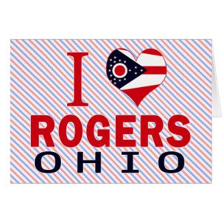 Amo a Rogers, Ohio Tarjeta