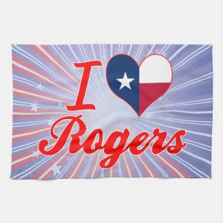 Amo a Rogers, Tejas Toallas De Cocina