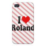 Amo a Roland iPhone 4 Cárcasas