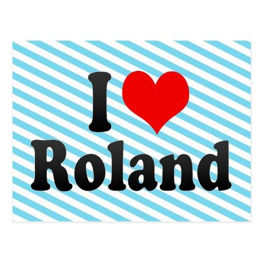 Amo a Roland Postales