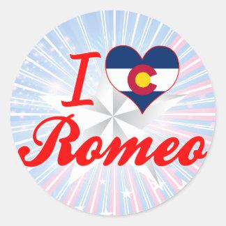 Amo a Romeo Colorado Etiqueta