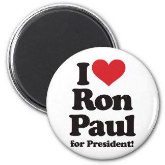 Amo a Ron Paul para el presidente Imán Redondo 5 Cm
