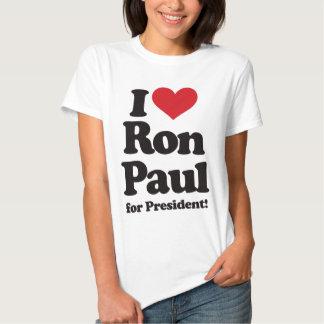 Amo a Ron Paul para el presidente Poleras