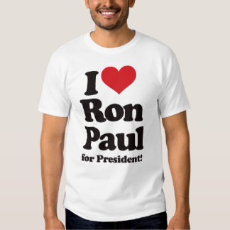 Amo a Ron Paul para el presidente Remeras