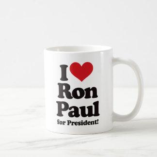 Amo a Ron Paul para el presidente Taza