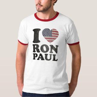 Amo a Ron Paul patriótico Poleras