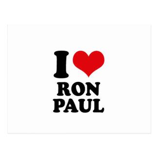 AMO A RON PAUL TARJETA POSTAL