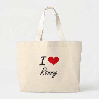 Amo a Ronny Bolsa Tela Grande