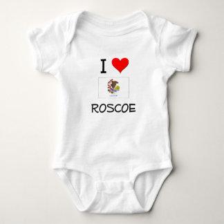 Amo a ROSCOE Illinois Playeras