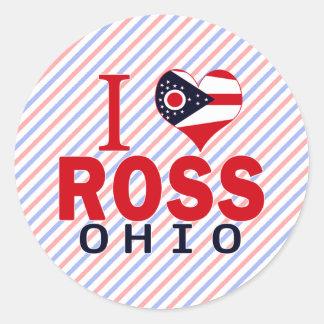 Amo a Ross Ohio Etiquetas