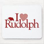 Amo a Rudolph Alfombrilla De Ratones