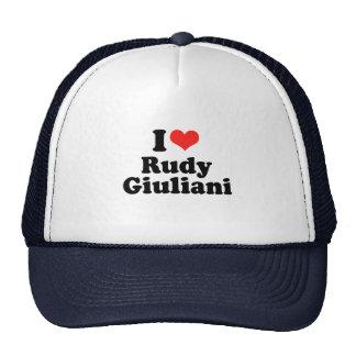 Amo a Rudy Giuliani Gorros Bordados