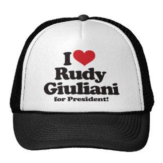 Amo a Rudy Giuliani para el presidente Gorro De Camionero