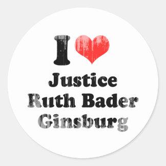 AMO A RUTH BADER GINSBURG .PNG ETIQUETA REDONDA