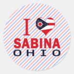 Amo a Sabina, Ohio Etiquetas Redondas
