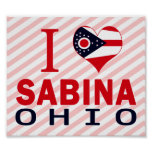 Amo a Sabina, Ohio Impresiones