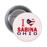 Amo a Sabina, Ohio Pin