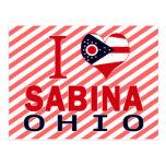 Amo a Sabina, Ohio Tarjeta Postal