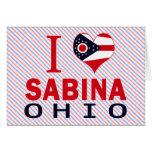 Amo a Sabina, Ohio Tarjetón
