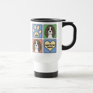 Amo a saltadores ingleses tazas de café