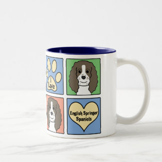 Amo a saltadores ingleses taza de café