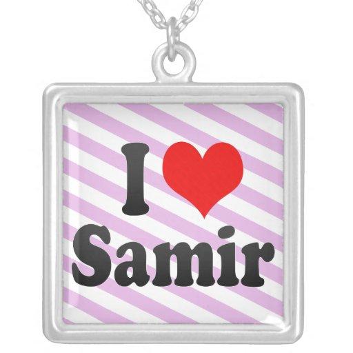 Amo a Samir Colgantes Personalizados