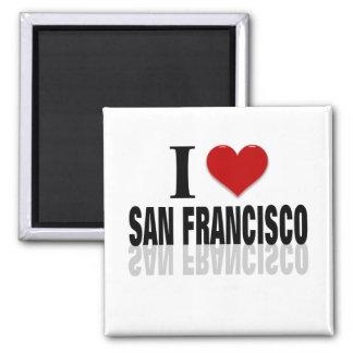Amo a San Franciso Imán Cuadrado